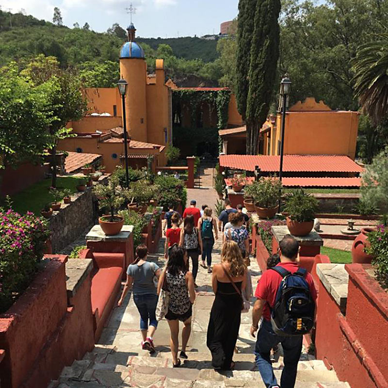 Explore the Town & Country of Guanajuato - Students walking down stairs