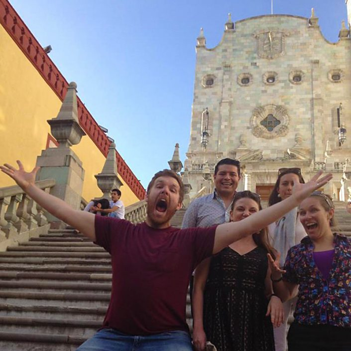 Have Fun at Universidad de Guanajuato - On the steps of the University