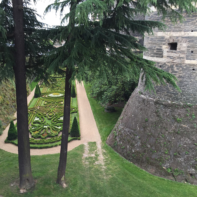 Visit the Gardens at the Chateau d'Angers Castle