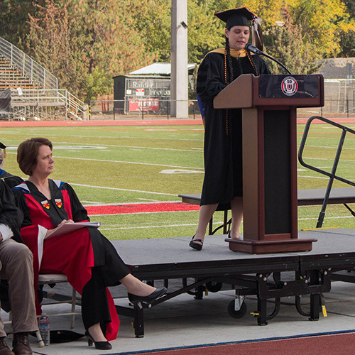 Brook Colley at SOU Convocation 2016