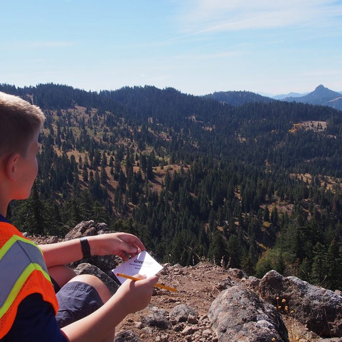 SOU Environmental Education Program with Jewett Elementary 5th Grade Trip on the PCT