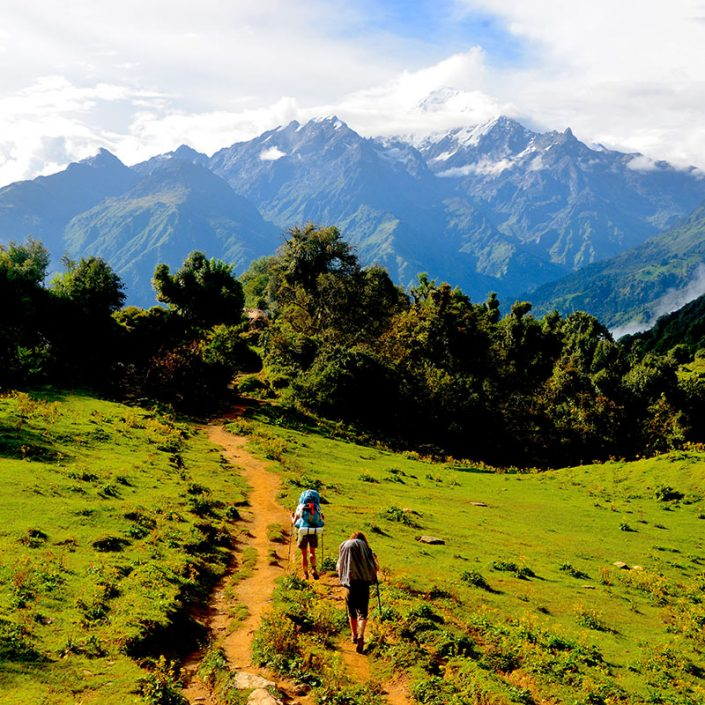 Rupina La Trek with Buddha Himal in the Background