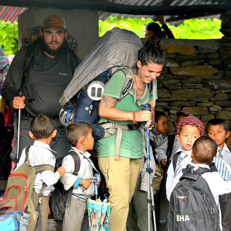 Trekking through Barpak Nepal on the Manaslu Circuit